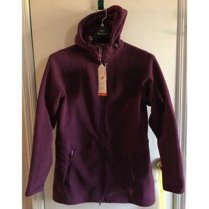 Land's End Extra Long Fleece Hooded Jacket